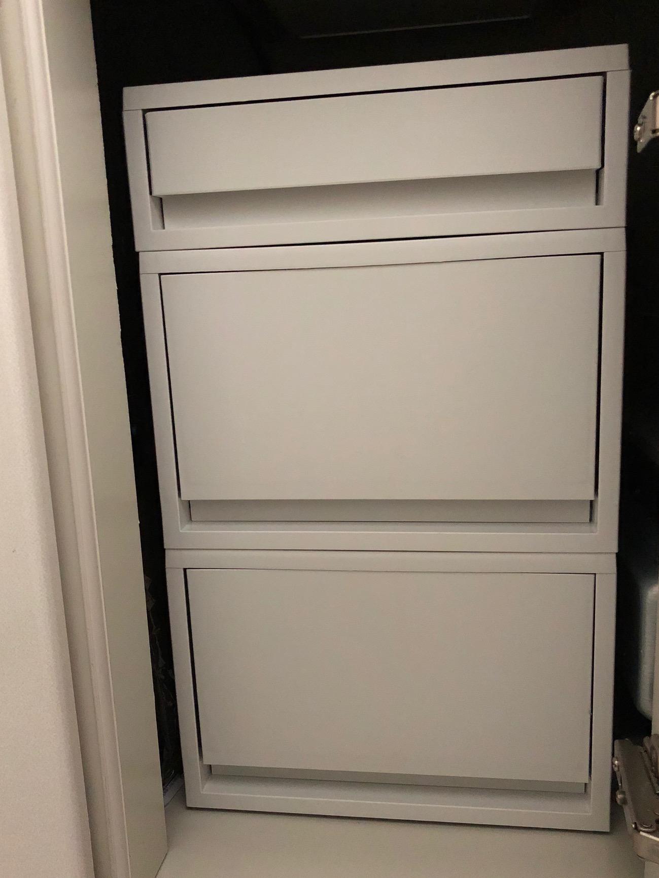 無印良品 キッチンのシンク下の収納はポリプロピレンケースで
